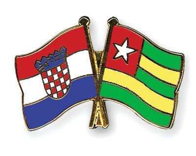 Crossed Flag Pins Croatia-Togo