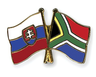 Crossed Flag Pins Slovakia-South-Africa
