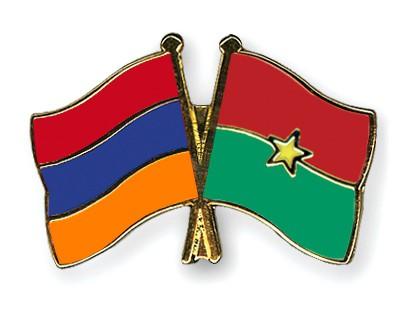 Crossed Flag Pins Armenia-Burkina-Faso