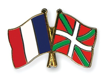 Special Offer Crossed Flag Pins France-Basque Country