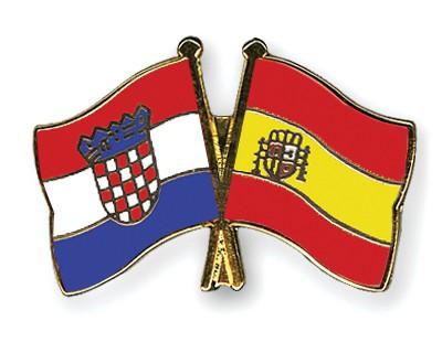 Crossed Flag Pins Croatia-Spain