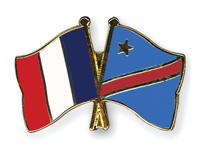 Special Offer Crossed Flag Pins France-Congo democratic Republic