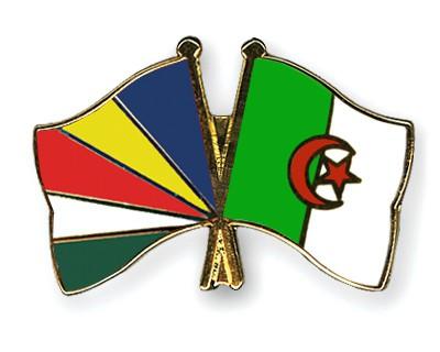 Crossed Flag Pins Seychelles-Algeria