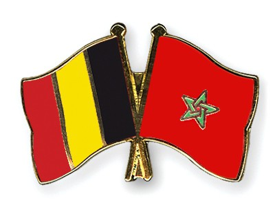 Special Offer Crossed Flag Pins Belgium-Morocco