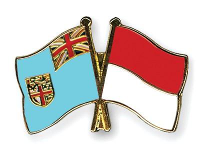 Crossed Flag Pins Fiji-Indonesia