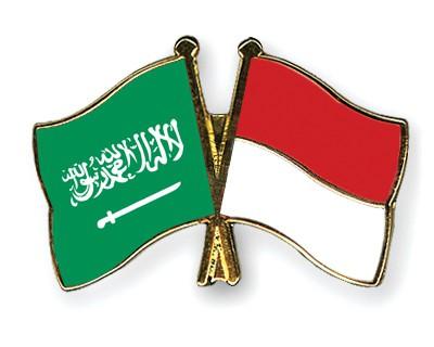 Crossed Flag Pins Saudi-Arabia-Indonesia