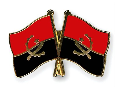 Crossed Flag Pins Angola-Angola
