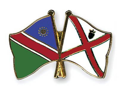 Crossed Flag Pins Namibia-Jersey
