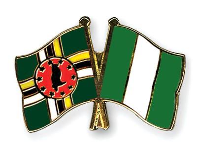 Crossed Flag Pins Dominica-Nigeria