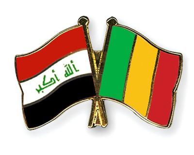 Crossed Flag Pins Iraq-Mali