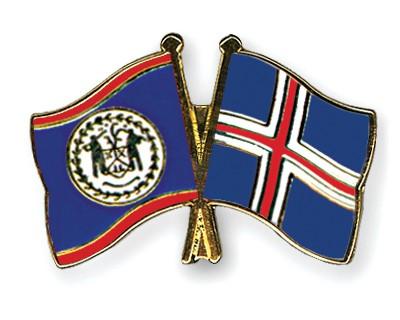 Crossed Flag Pins Belize-Iceland