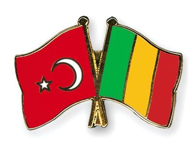 Crossed Flag Pins Turkey-Mali