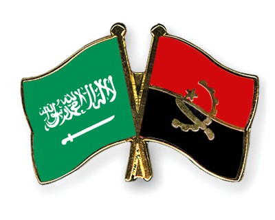 Crossed Flag Pins Saudi-Arabia-Angola