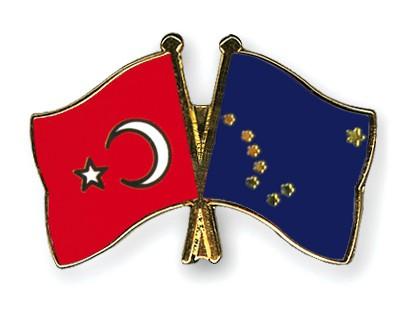 Crossed Flag Pins Turkey-Alaska