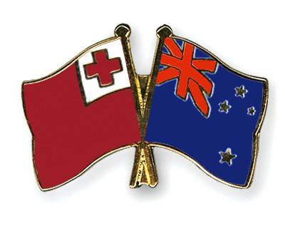 Crossed Flag Pins Tonga-New-Zealand