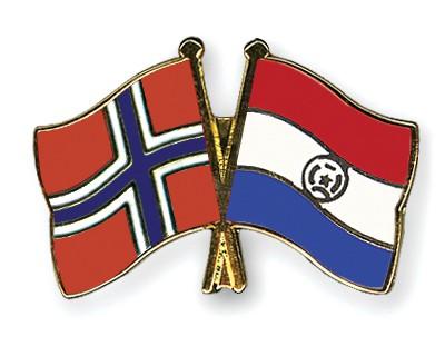 Crossed Flag Pins Norway-Paraguay