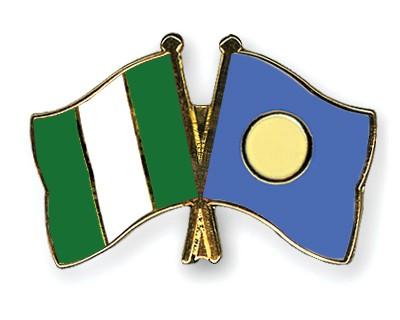 Crossed Flag Pins Nigeria-Palau
