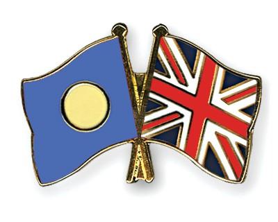 Crossed Flag Pins Palau-Great-Britain