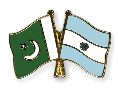 Crossed Flag Pins Pakistan-Argentina