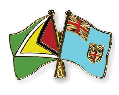 Crossed Flag Pins Guyana-Fiji