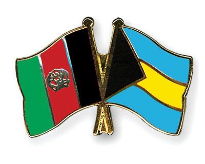 Crossed Flag Pins Afghanistan-Bahamas