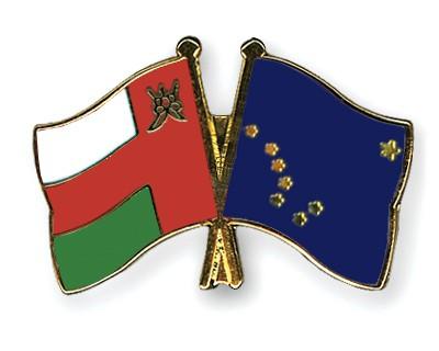 Crossed Flag Pins Oman-Alaska