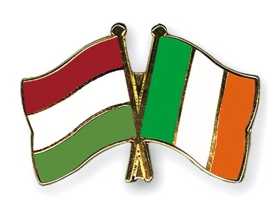Special Offer Crossed Flag Pins Hungary-Ireland