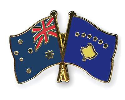 Special Offer Crossed Flag Pins Australia-Kosovo