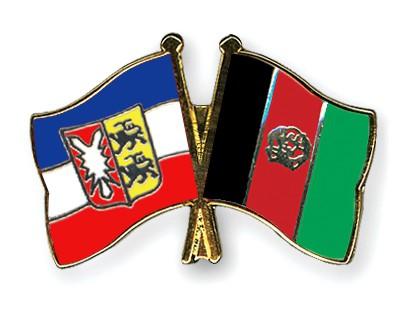 Crossed Flag Pins Schleswig-Holstein-Afghanistan