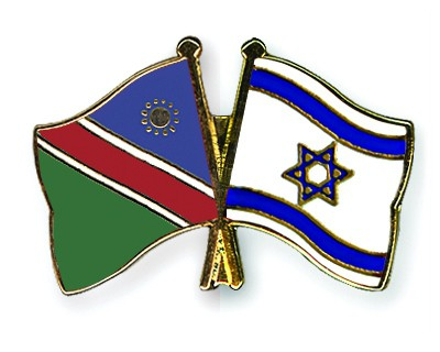 Crossed Flag Pins Namibia-Israel