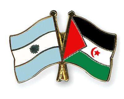 Crossed Flag Pins Argentina-Western-Sahara