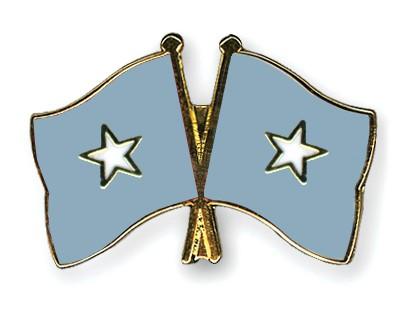 Crossed Flag Pins Somalia-Somalia