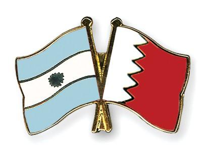 Crossed Flag Pins Argentina-Bahrain