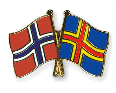 Crossed Flag Pins Norway-Aland