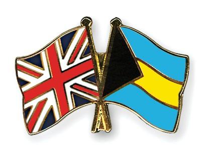 Crossed Flag Pins Great-Britain-Bahamas