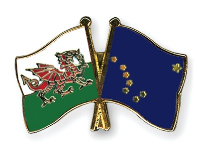 Crossed Flag Pins Wales-Alaska
