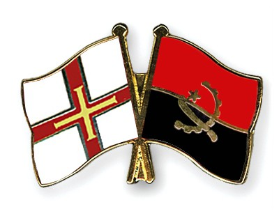 Crossed Flag Pins Guernsey-Angola