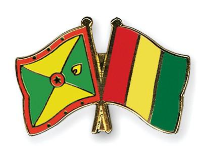 Crossed Flag Pins Grenada-Guinea