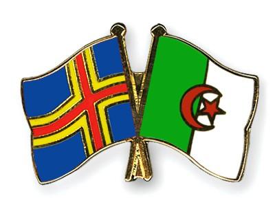 Crossed Flag Pins Aland-Algeria
