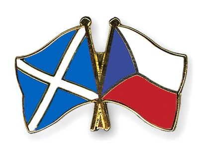 Special Offer Crossed Flag Pins Scotland-Czech Republic