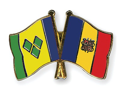 Crossed Flag Pins Saint-Vincent-and-the-Grenadines-Andorra