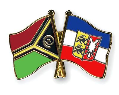 Crossed Flag Pins Vanuatu-Schleswig-Holstein