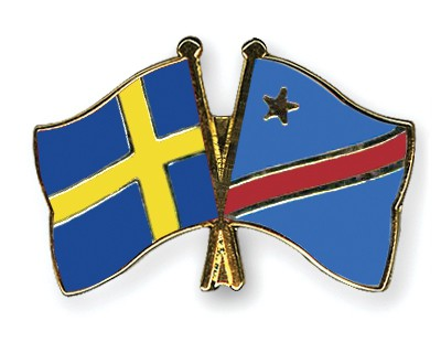 Special Offer Crossed Flag Pins Sweden-Democratic-Republic-of-the-Congo
