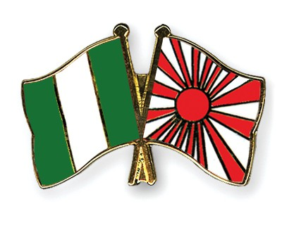 Crossed Flag Pins Nigeria-Japan-War-Flag