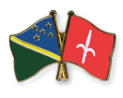 Crossed Flag Pins Solomon-Islands-Trieste