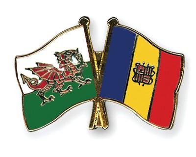 Crossed Flag Pins Wales-Andorra