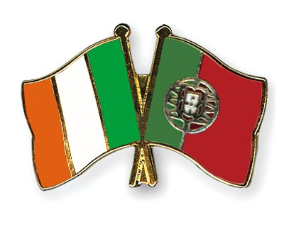 Special Offer Crossed Flag Pins Ireland-Portugal