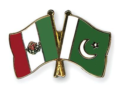 Crossed Flag Pins Mexico-Pakistan