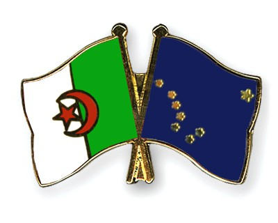 Crossed Flag Pins Algeria-Alaska