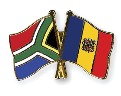 Crossed Flag Pins South-Africa-Andorra